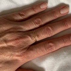 Gold filled thin double ring