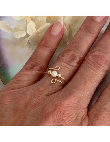 Gold filled thin double ring with...