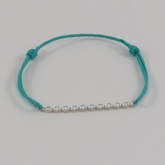 Bracelet cordon petite Chainette argent