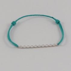 Cord bracelet silver 925 small chain
