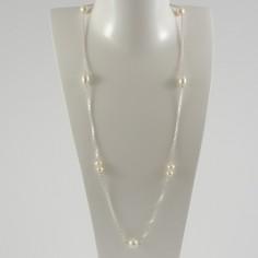 Sautoir argent Perles d'eau douce blanches