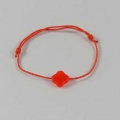 Bracelet cordon pierre croix facetée