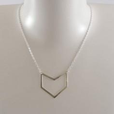 Collier chaine argent motif M V