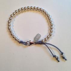 Bracelet Elise perles moyennes argent fermoir