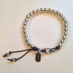 Bracelet Elise grosses perles argent fermoir