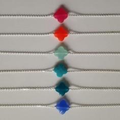Chain bracelet silver 925 cross stone