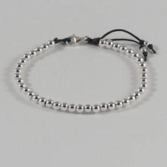 Bracelet Elise petites perles argent fermoir