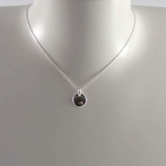 Small medal chain necklace silver 925