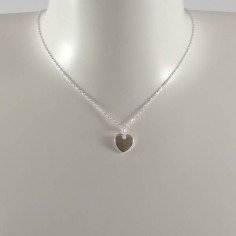 Small heart medal chain necklace silver 925