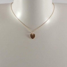 Small heart medal chain necklace gold plated