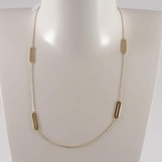 Four small links chain necklace gold plated