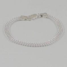 Bracelet chaine argent 3 rangs boules