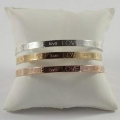 Bracelet Jonc plat argent Love