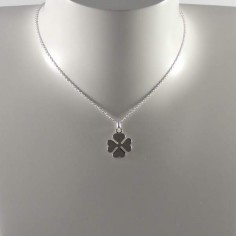 Clover medal chain necklace silver 925