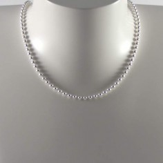 Collier chaine argent maille ronde boules