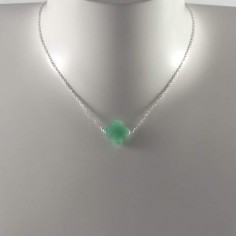 Aventurine cross chain necklace silver 925
