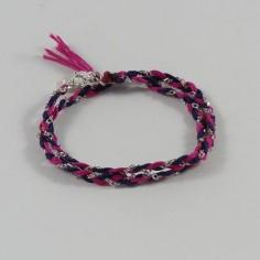Bracelet Shamballa petite perles argent