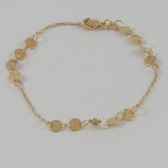 Bracelet chaine plaqué or mini pastilles