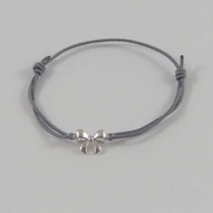 Child silver 925 small knot cord bracelet