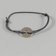 Child silver 925 small target cord bracelet