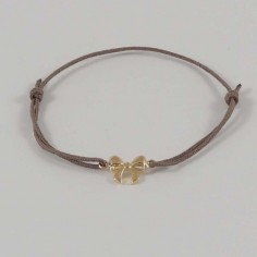 Child gold plated small knot cord bracelet