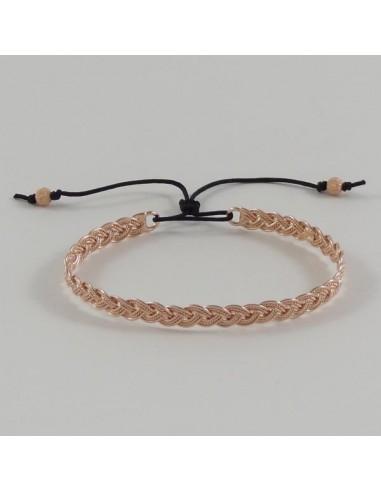 bracelet jonc plaqu or rose tress. Black Bedroom Furniture Sets. Home Design Ideas