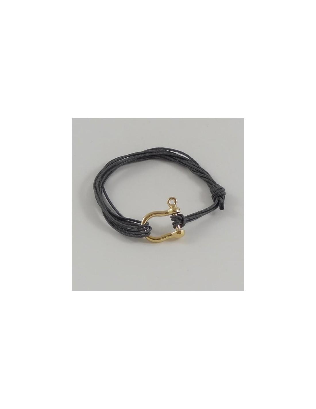 bracelet homme motif manille plaqu or. Black Bedroom Furniture Sets. Home Design Ideas