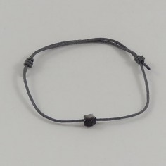 Bracelet cordon mini Etoile nacre grise