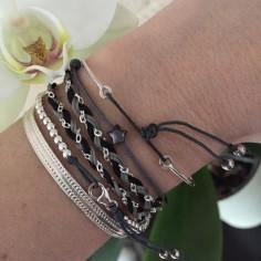 Bracelet Elise mini perles argent fermoir