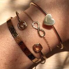 Bracelet chaine plaqué or motif infini