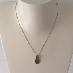 Collier chaine argent ananas