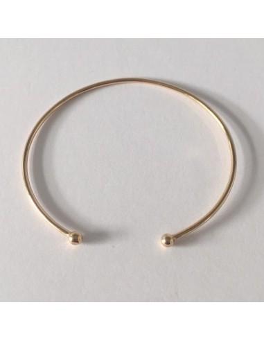 bracelet jonc plaqu or fin 2 boules. Black Bedroom Furniture Sets. Home Design Ideas