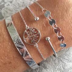 Bracelet chaine argent arbre de vie