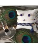 Bracelet chaine plaqué or 5 petites pierres
