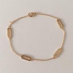 Bracelet chaine plaqué or 4 maillons