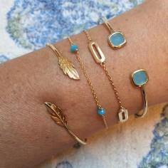 Bracelet chaine plaqué or 4 petits maillons