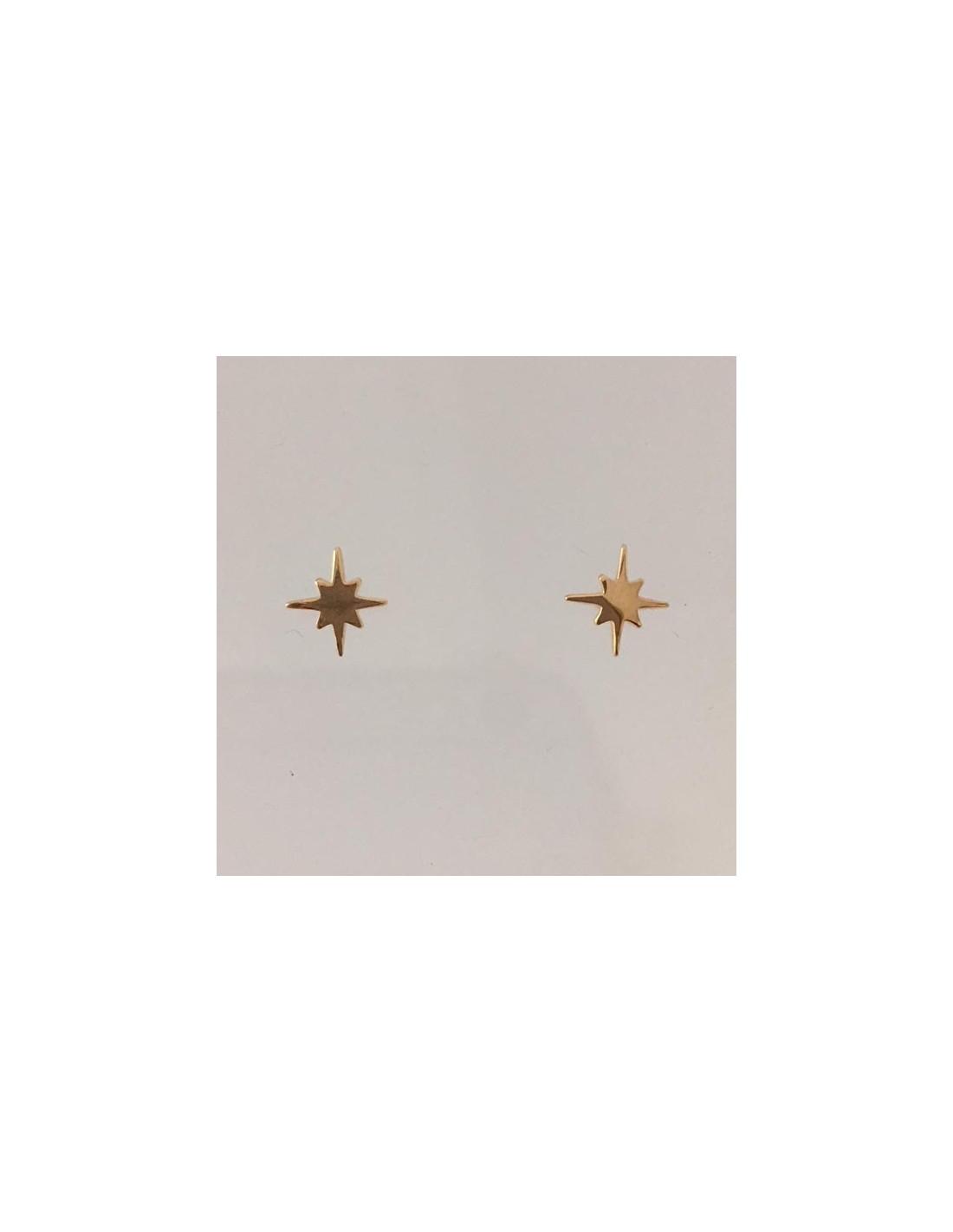 Boucles Doreilles Petites étoiles 6 Branches Plaqué Or