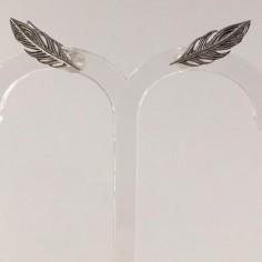 Boucles d'oreilles plumes argent