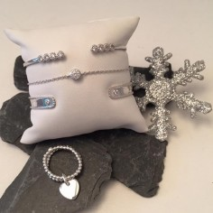 Bracelet chaine argent zircon