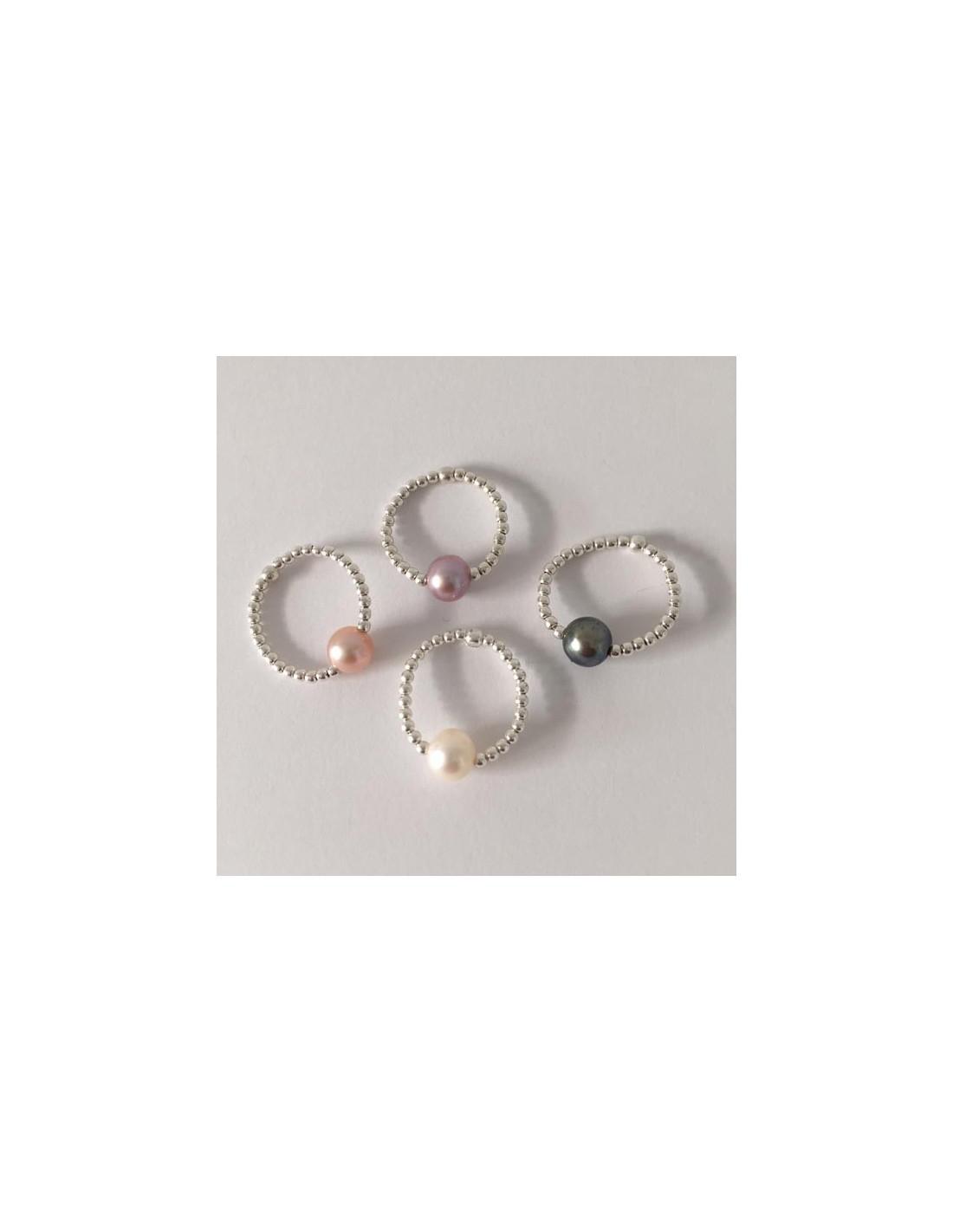 bague minis perles argent perle d eau douce blanche. Black Bedroom Furniture Sets. Home Design Ideas