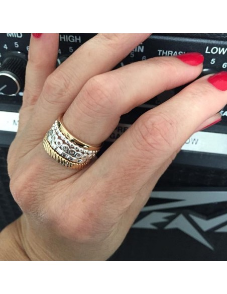 Striated ring gold plated