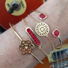 Chain bracelet gold plated small sun