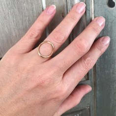 Circle ring gold plated