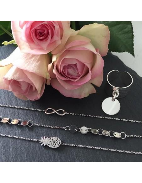 Chain bracelet silver 925 infinity