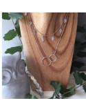 Collier chaine argent 2 Anneaux