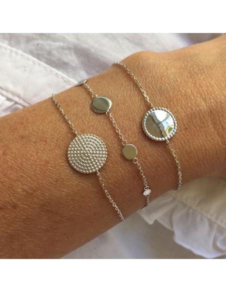 Chain bracelet silver 925 beads circle