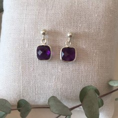 Amethyst earrings silver 925