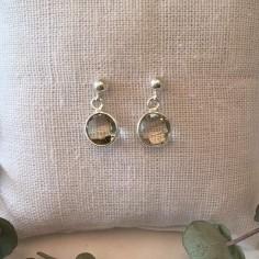 Boucles d'oreilles argent Quartz