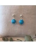 Quartz earrings silver 925