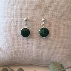 Malachite earrings silver 925